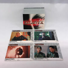 """BATTLESTAR GALACTICA PREMIERE EDITION """"MINI-SERIES"""" Complete Card Set from 2005"""