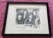 METALLICA CLIFF BURTON '86 FULLY SIGNED AUTOGRAPHED FRAMED EARLY GROUP PHOTO JSA