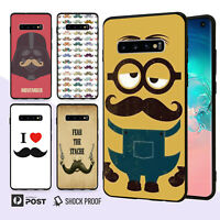 Mustache Slim Bumper Case Cover For Samsung Galaxy S10 e 9 8 Edge Plus Note 077