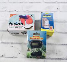 New Aquarium Air Pump JW Fusion 200 Digital Thermometer Filter Cartridge S Tetra