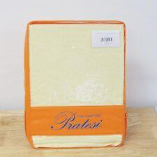 NEW Pratesi Hotel Stone Washed Linen KING Pillow Sham YELLOW Bedding $165 G4144