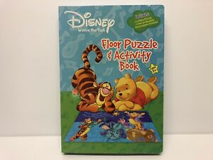 NEW Disney Winnie the Pooh Floor Puzzle and Activity Book with Stickers Age 3+