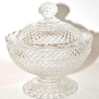 Bonbonnière en cristal BACCARAT - Modèle Diamants _ Sucrier Drageoir moulé signé