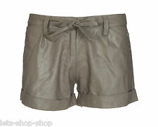 New Womens Belted Shorts Ladies Summer Fashion Smart Roll Up Hot Pants Size 8-16