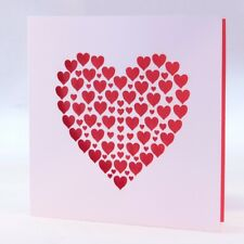 Coeurs de coupe laser carte de Valentine-Rose