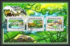 Animaux Crocodiles Guinée (164) série complète 3 timbres oblitérés