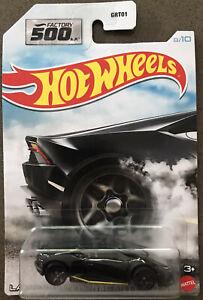 HOT WHEELS Factory 500HP #8/10 - Lamborghini Huracan LP610-4 (Black) - New