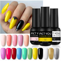 PICT YOU 8ml UV Gel Nail Polish Soak Off Glitter Color Nail Gel Varnish Nail Art