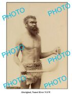 OLD ABORIGINAL LARGE PHOTO BOOMERANG MAN NAMOI RIVER