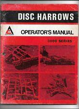 Original Allis Chalmers 2087195 Operators Manual For 3000 Series Disc Harrows