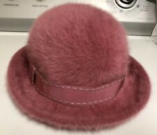 Kangol Angora Blend Pink Mauve? Vintage Bucket Hat