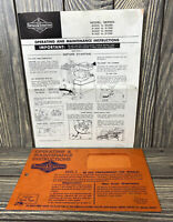 Vintage Briggs & Stratton 4 Cycle Gasoline Engine Instructions Manual