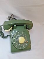 Vintage 1979 Army Green Northern Telephone Radial Dial with Soft Touch Accessory