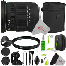 Sigma 17-50mm f/2.8 EX DC OS HSM Zoom Lens for Nikon + Cleaning Accessory Bundle