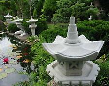 Japanische Steinlaterne -- Vogelhaus -- Gartendekoration Koiteich Steinguß