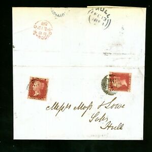1858  Late - Fee Cover to Hull from London    (O534)