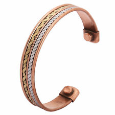 High Strength Men Bio Magnetic Copper-Cuff Bangle/Bracelet Arthritis Pain Relief