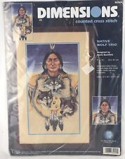"Sealed Dimensions ""Native Wolf Trio"" Counted Cross Stitch Kit MARIA BUCHFINK"
