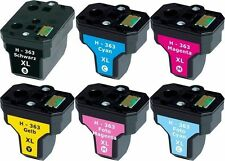 6x XXL PATRONEN für HP363 C5180 C6250 C7180 C7280 C8180 3110 3210 3310 8230 8250