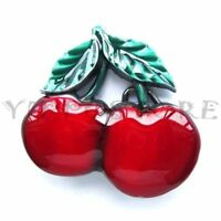 Cherry Cherries Metal Fashion Belt Buckle