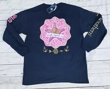 "NWT Simply Southern ""wish upon a"" Starfish YOUTH Sz. LARGE Navy Long Sleeve"