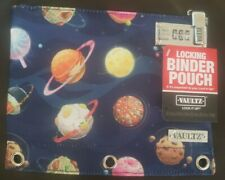 Vaultz Zippered Binder Pouch with Combination Lock Space Food