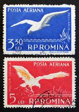 Timbre ROUMANIE / ROMANIA Stamp - Yvert et Tellier Aériens n°73 et 74 obl(Cyn22)