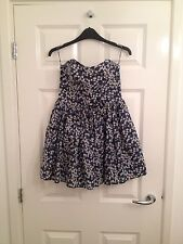 Liberty Print 100% Cotton Jack Wills Dress with fitted bodice, UK size 10
