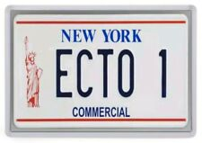 Ecto 1 License Plate Fridge Magnet. NEW. Ghostbusters