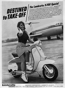 """1967 Lambretta X-200 Special Scooter """"Destined to Take Off"""" Original Model Ad"""