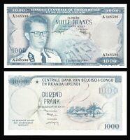 Belgian Congo:P-35,XF * 1000 Francs, 1958 * King Baudouin * Rare !