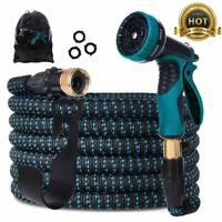 Gardguard 50ft Expandable Garden Hose: Water Hose with 9 Function Spray Nozzle a