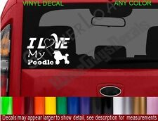I Love my POODLE DOG Decal Sticker heart DOGS Puppy pets rescue cute decals pet
