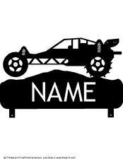 CUSTOM SAND RAIL MAILBOX TOPPER (YOUR NAME) TEXTURED BLACK POWDER COAT FINISH