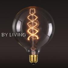 95MM E27 Thomas Edison Vintage Industrial Filament Globe Spiral Bulb Clear