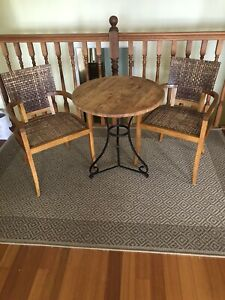 URGENT SALE! 3 Piece Solid Wood Breakfast Table and Chair Kitchen Seat, RRP $645