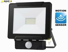 NEW MERCATOR DINO 20W LED DIY FLOODLIGHT WITH PIR MOTION SECURITY SENSOR - BLACK
