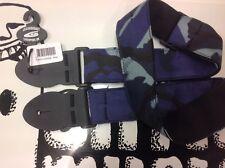 """LEATHERGRAFT UK COMBAT Camouflage Bleu Sangle graphique Sangle de guitare 2""""W Best UK?"""