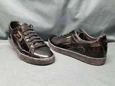 Puma Men's Clyde Wraith Retro Casual Sneakers Black Black Size 11 DISPLAY MODEL!