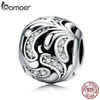 Bmaoer Fine S925 Sterling Silver Charm Tender blossom & CZ Fit Bracelet Jewelry
