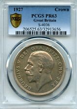 Great Britain 1927 Silver Crown, King George V, PROOF,  PCGS graded PR-63