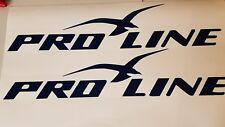 "PAIR OF 5""X24"" PRO LINE BOAT HULL DECALS. MARINE GRADE. YOUR COLOR CHOICE 210"