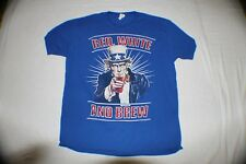 Red White and Brew ~ T shirt  ~ Blue size XL