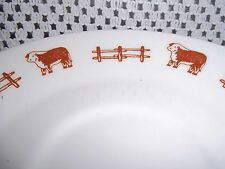 5 Vtg. Syracuse China Saucers - Steer & Rail Fence - Red's Steak House, Arizona
