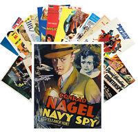 Postcards Pack [24 cards] Spy Secret Service Vintage Trash Movie Poster CC1072