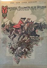 DEC 9, 1906 NEWSPAPER PG #J5587- EQUESTRIAN- FOLLOWERS OF THE HOUNDS / FOX HUNT