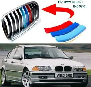 BizTech® Clip In Grill inserts Stripes For BMW 3 Series Coupe E46 97-02 M Sport