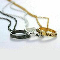 3 tlk Damen BFF Halskette Kreisnhänger Damenkette Ketten Modeschmuck Ge Neu B6J7