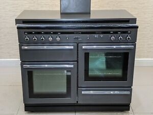 RANGEMASTER HI LITE 110 INDUCTION RANGE COOKER IN SLATE WITH MATCHING HOOD A658
