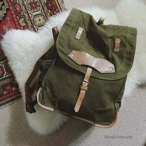 Romanian Army Canvas Surplus Rucksack - Camping Backpack, Vintage Bag, Day Pack